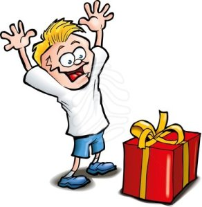 cartoon-of-excited-kid-receiving-a-gift-isolated-clipart-83383871